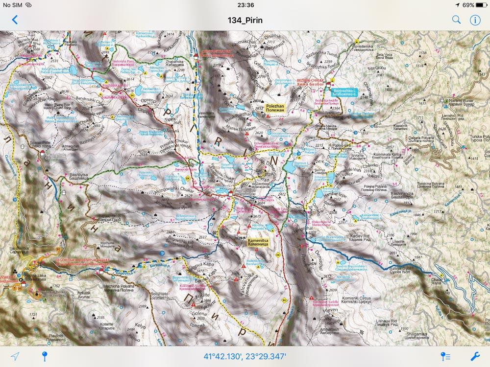 Pirin Mountains//Όρη Πιρίν - [[Scale 1:50.000///Κλίμακα 1:50.000]]