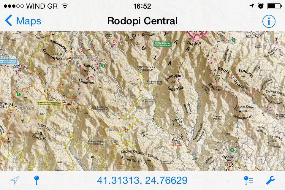 Rodopi (Central)//Κεντρική Ροδόπη - [[Scale 1:50.000///Κλίμακα 1:50.000]]