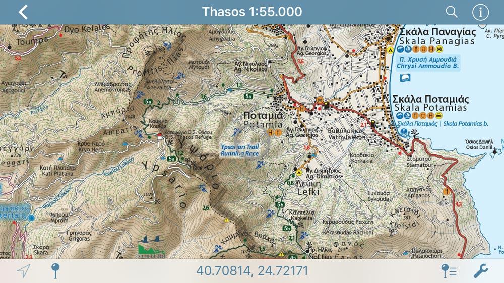 Thasos//Θάσος - [[Scale 1:55.000///Κλίμακα 1:55.000]]