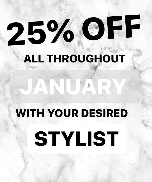 ** RECEIVE 25% OFF YOUR COLOUR APPOINTMENT ALL THROUGHOUT JANUARY ** . .  #derby #derbysalon #aveda #avedasalon