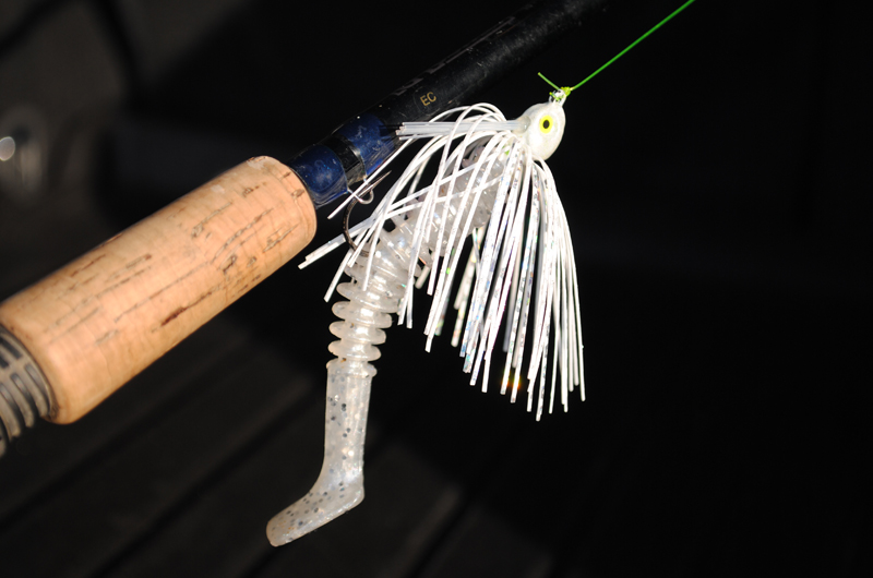 The complete package - Warrior Jigs swim jig with a Big Hammer trailer - DEADLY!!