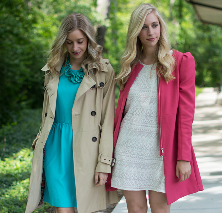 Fashion Column Twins/ H&M/ J Crew/ Graduation dresses