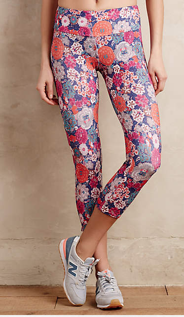 Anthropologie Berry bloom capris   ($56)