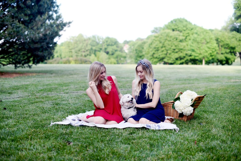 Campbell Dress in Red    |    Campbell Dress in Navy