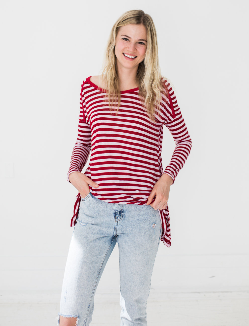 Grace Top in Red