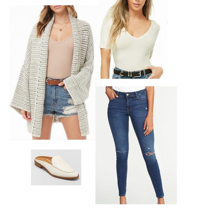 SHOP THIS LOOK:     Cardigan    |    Bodysuit    |    Jeans    |    Shoes