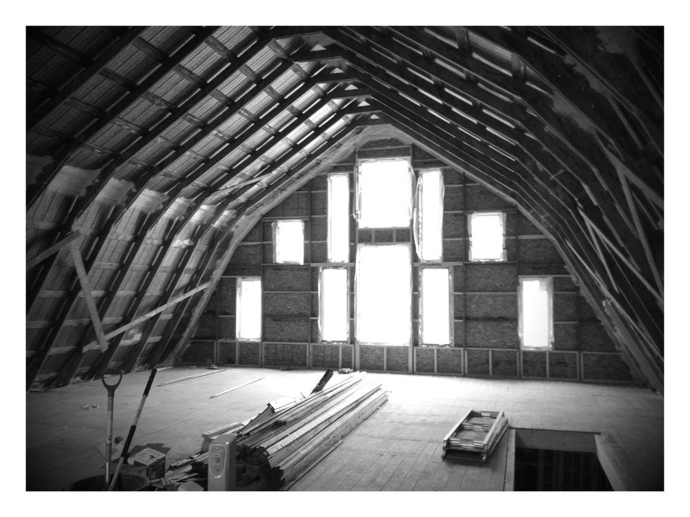 Barn Interior - Window Install