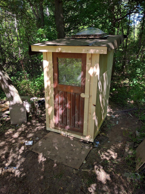 Custom Cedar Outhouse