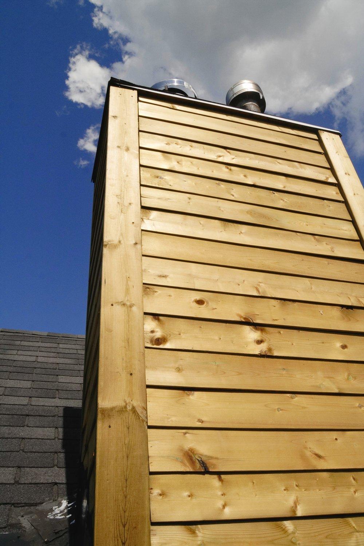Custom Wood Sided Chimney