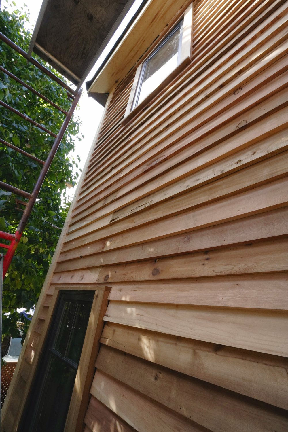 Side View Lap Siding Install