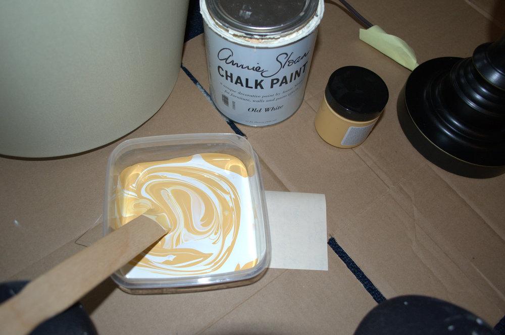 diy annie sloan chalk paint lamp