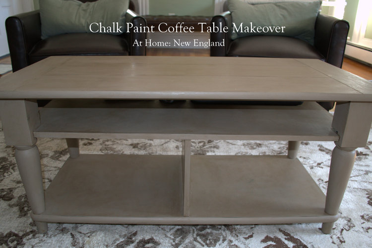 Chalk Paint Coffee Table Makeover At Home New England - Chalkboard paint coffee table