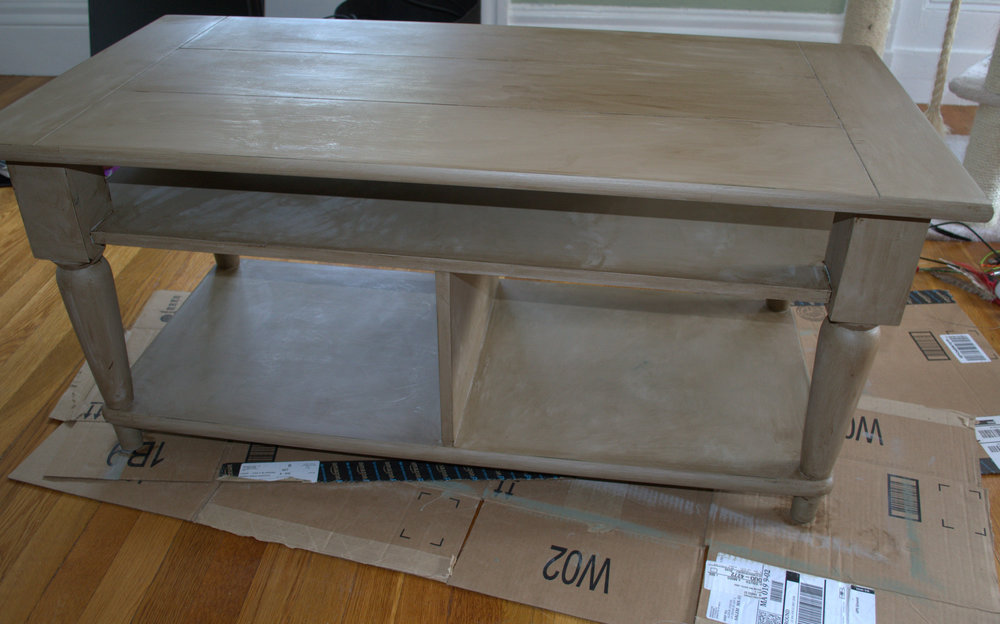 Chalk Paint Coffee Table Makeover At Home New England