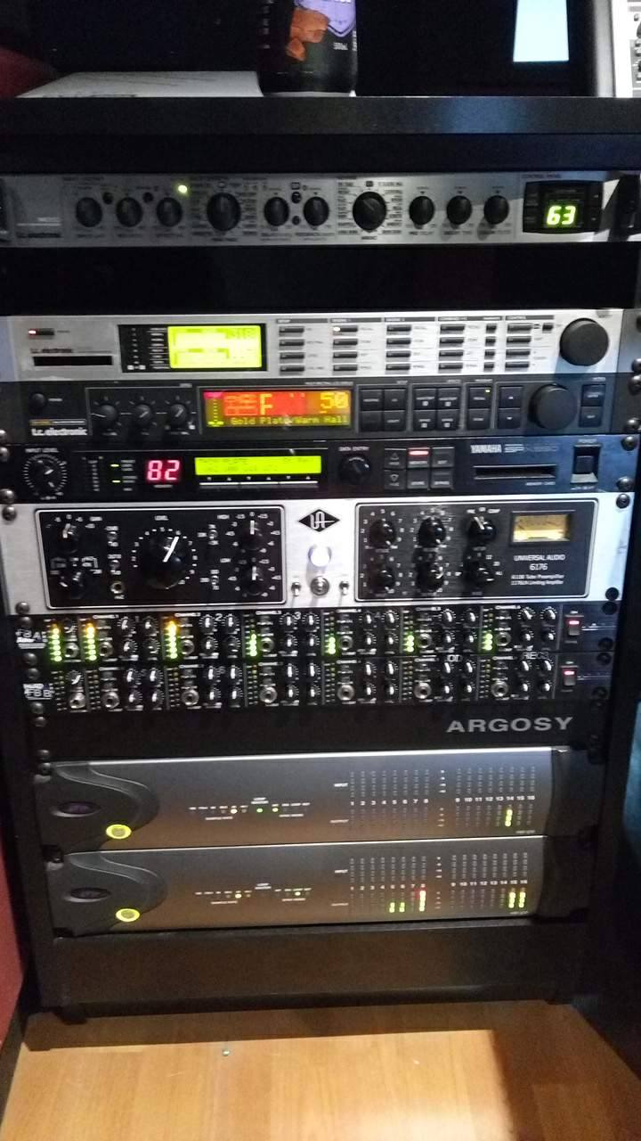 Outboard gear in the large Audient studio