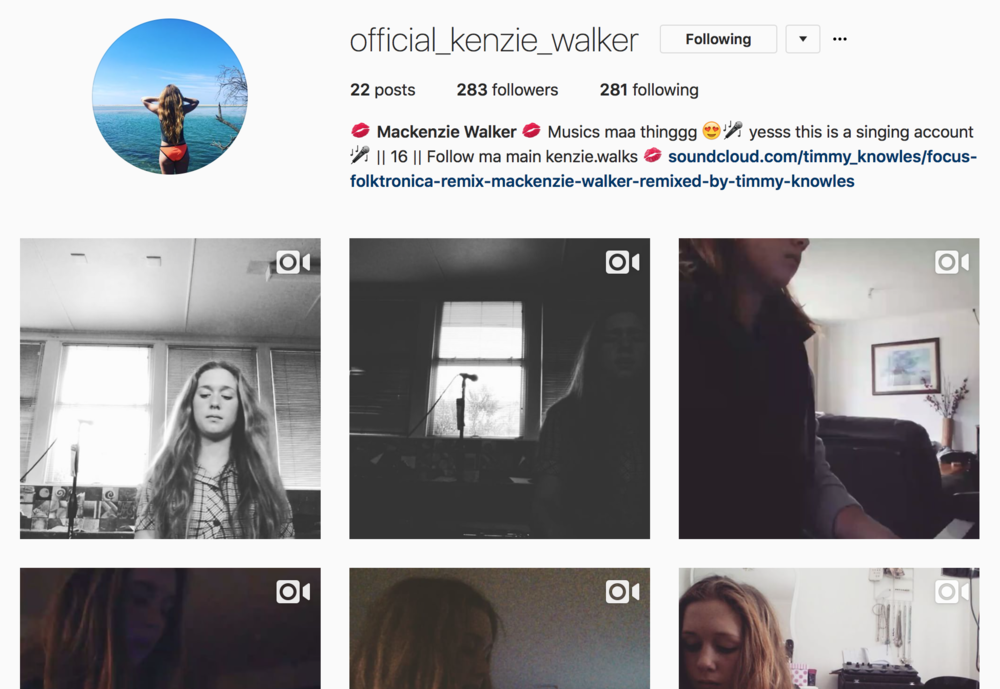 Mackenzie Walker's official Instagram profile