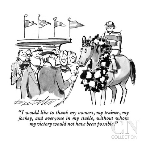 mischa-richter-i-would-like-to-thank-my-owners-my-trainer-my-jockey-and-everyone-in-m-new-yorker-cartoon