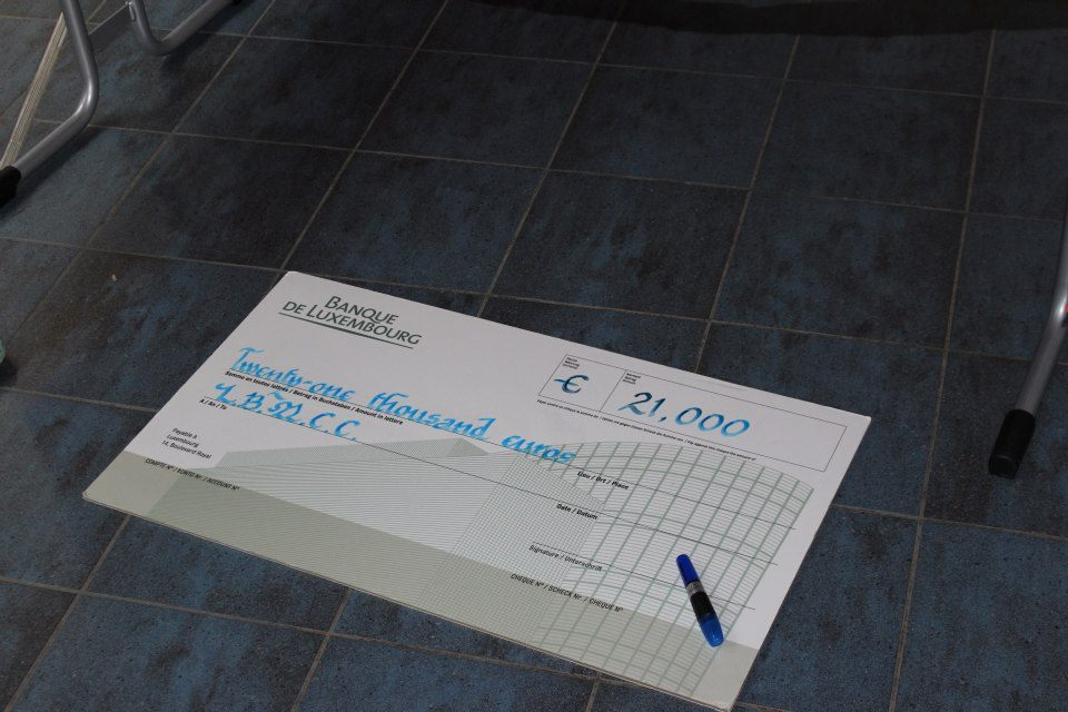 TP Ladies night cheque
