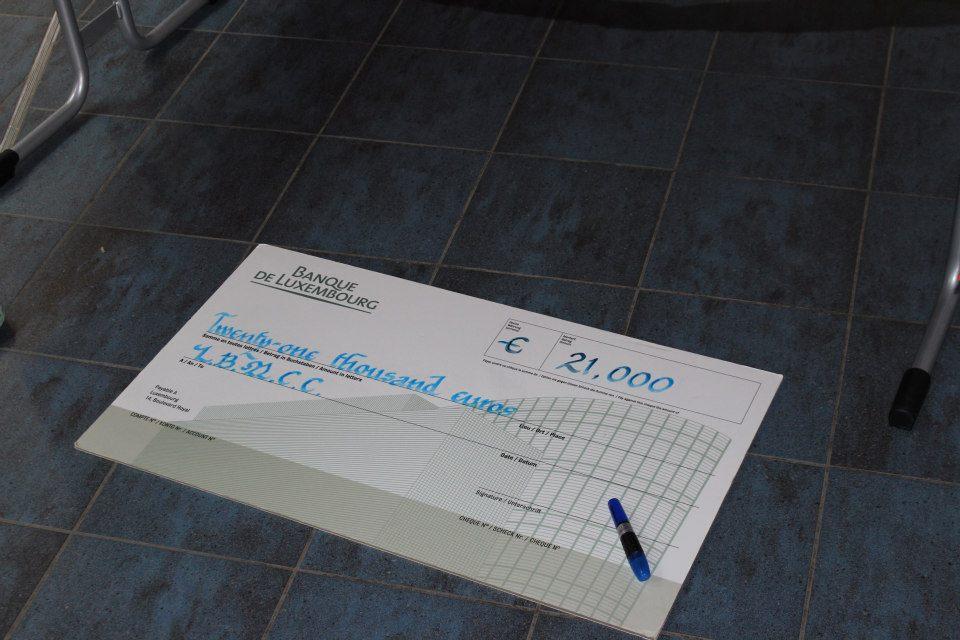 TP Ladies night cheque