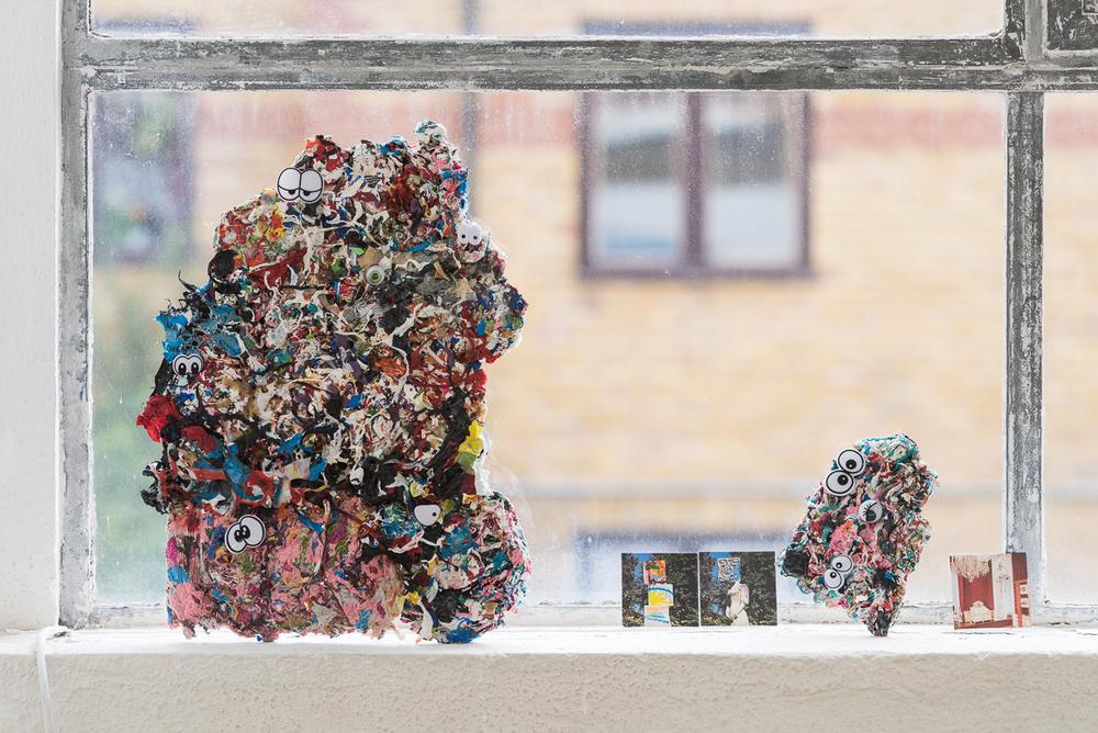 Untitled Recycled HDPE plastic 40 x 26 cm 17 x 26 cm 11 x 15cm 2015