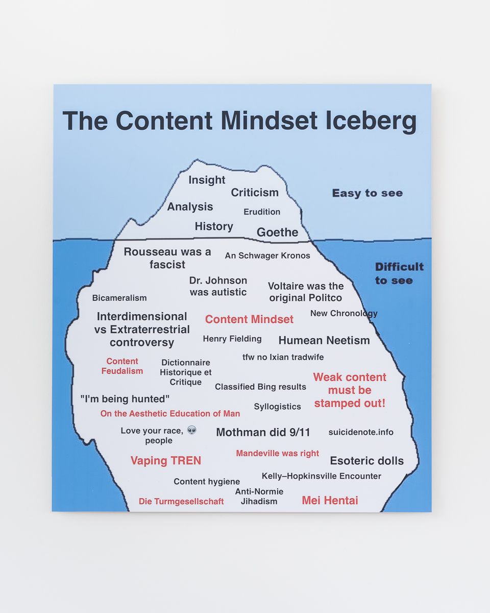 KANTBOT The Content Mindset Iceberg c-type print on aluminium 2016