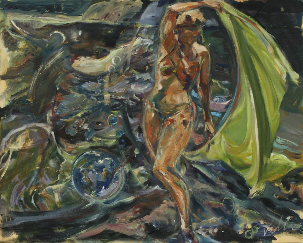 Vella Bubbles Spirits in the Wind 2014 oil on canvas 48%22 x 60%22 .JPG