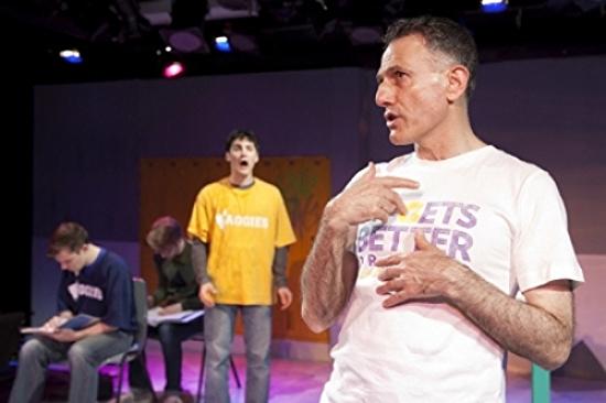 J. Alexander Coe, David Rosenblatt and David Greenspan as Dan Savage QUEERSPAWN by Mallery Avidon (2013)