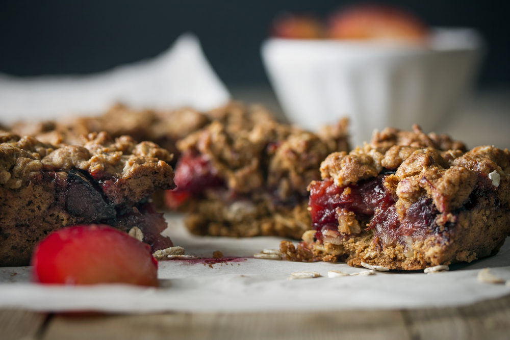 Summer Plum Crumble Squares