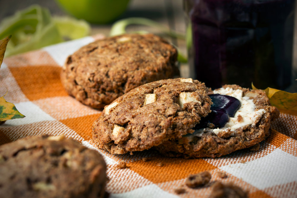 Apple Spelt Scones with Pumpkin Spice