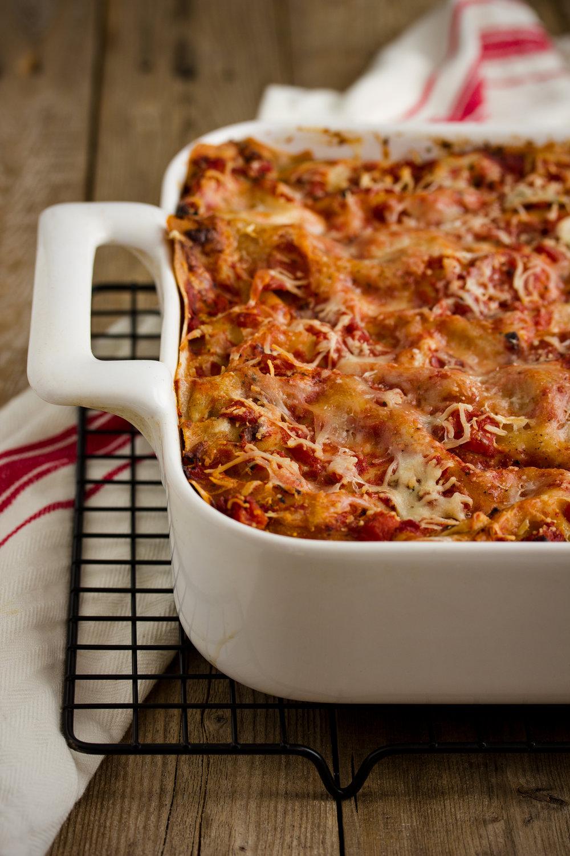 Healthier Turkey Lasagna Bolognese