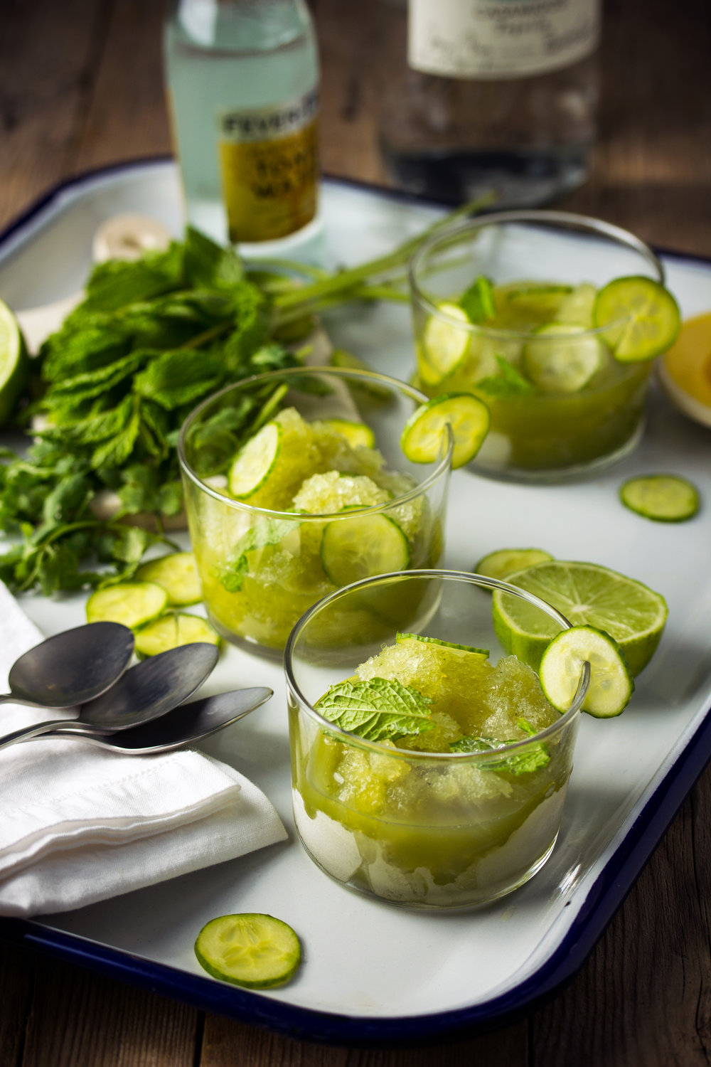 Cucumber-Mint Tequila and Tonic Scratch