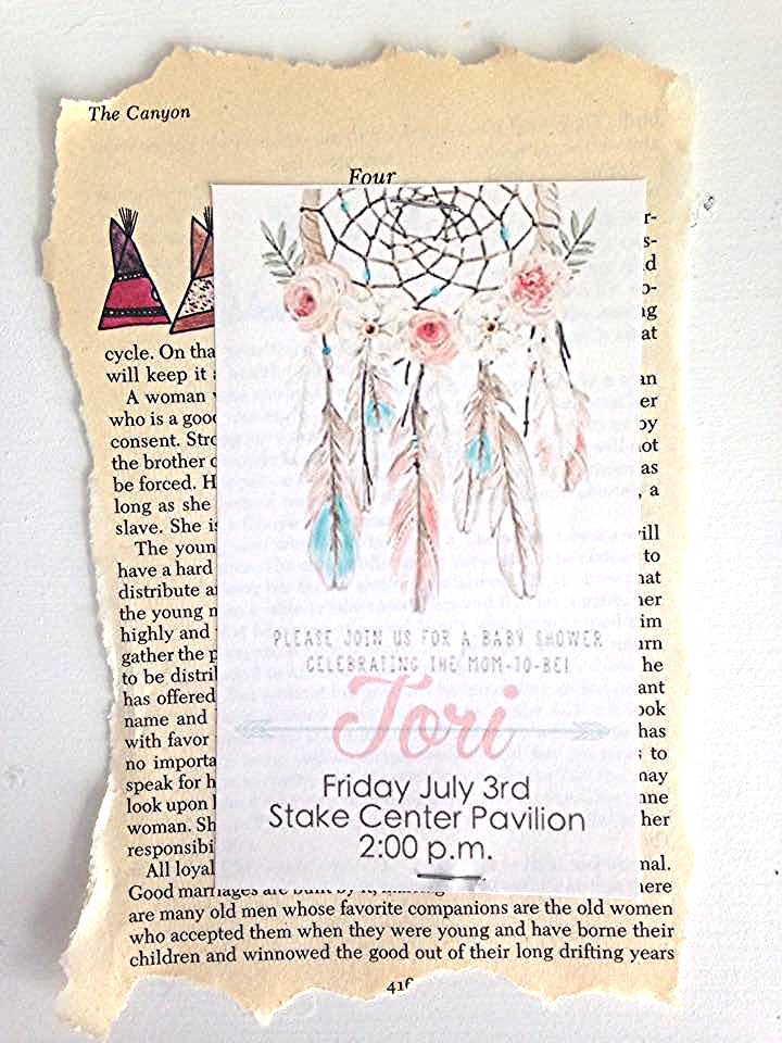The invite. Simple, boho, unique.