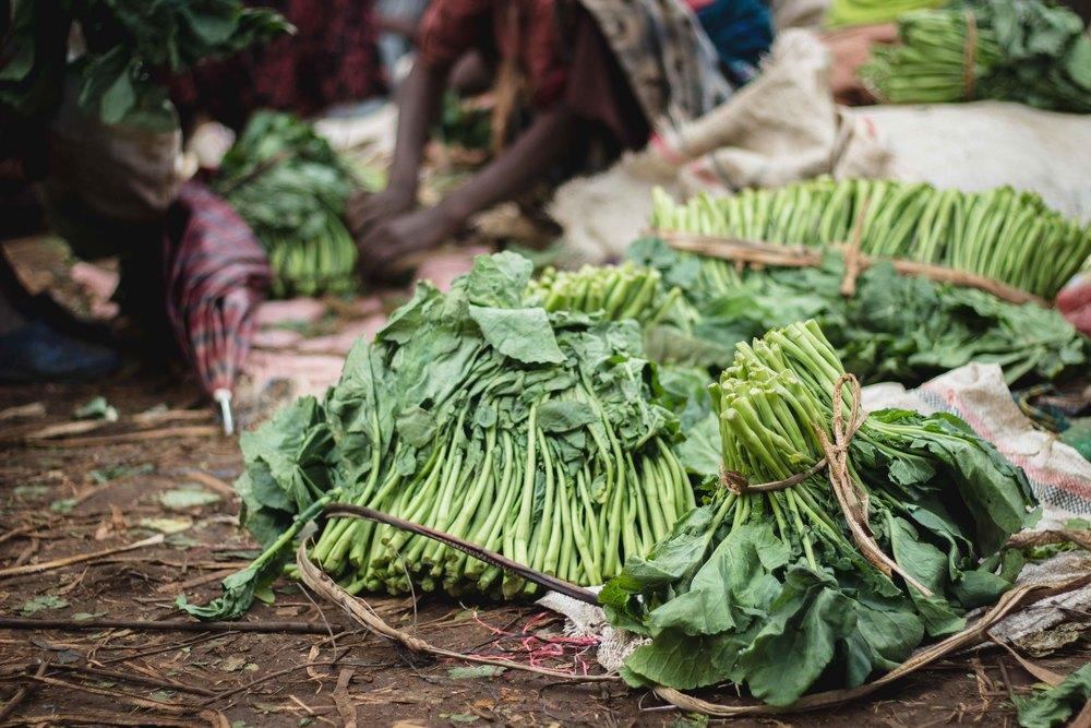 Gomen, aka ethiopian cabbage.