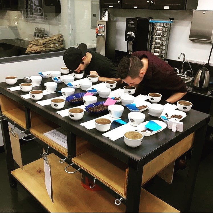 Quality control cupping session