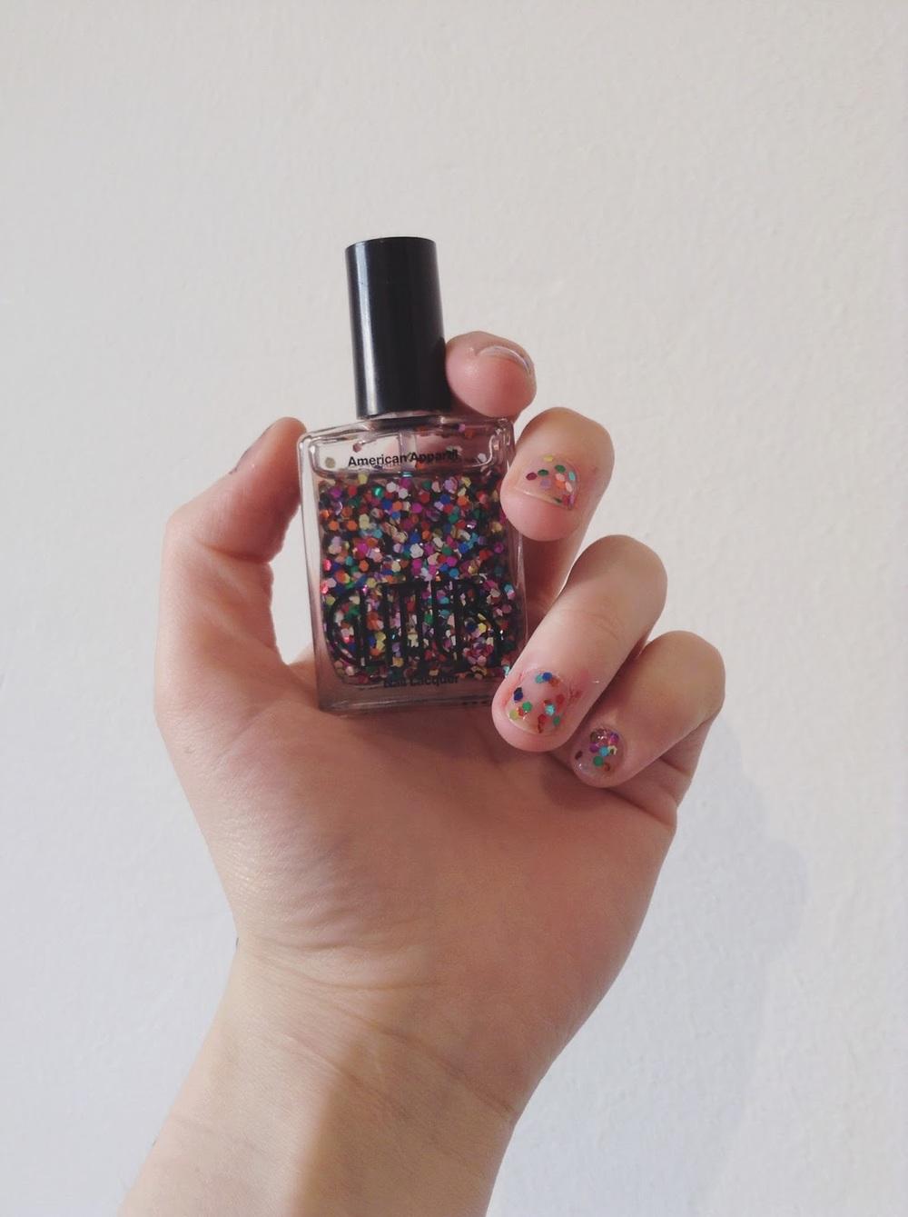 galaxy american apparel nail polish femmenism