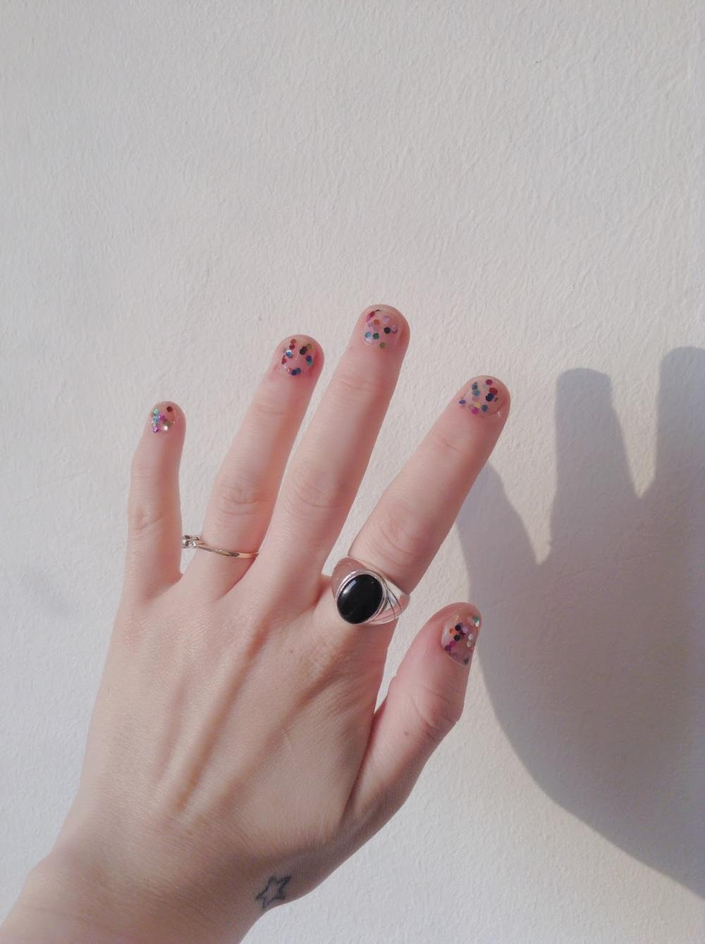 galaxy nail polish american apparel femmenism