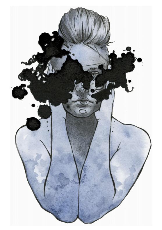 BLUE GIRL [RORSCHACH] - EMILY J. MOORE