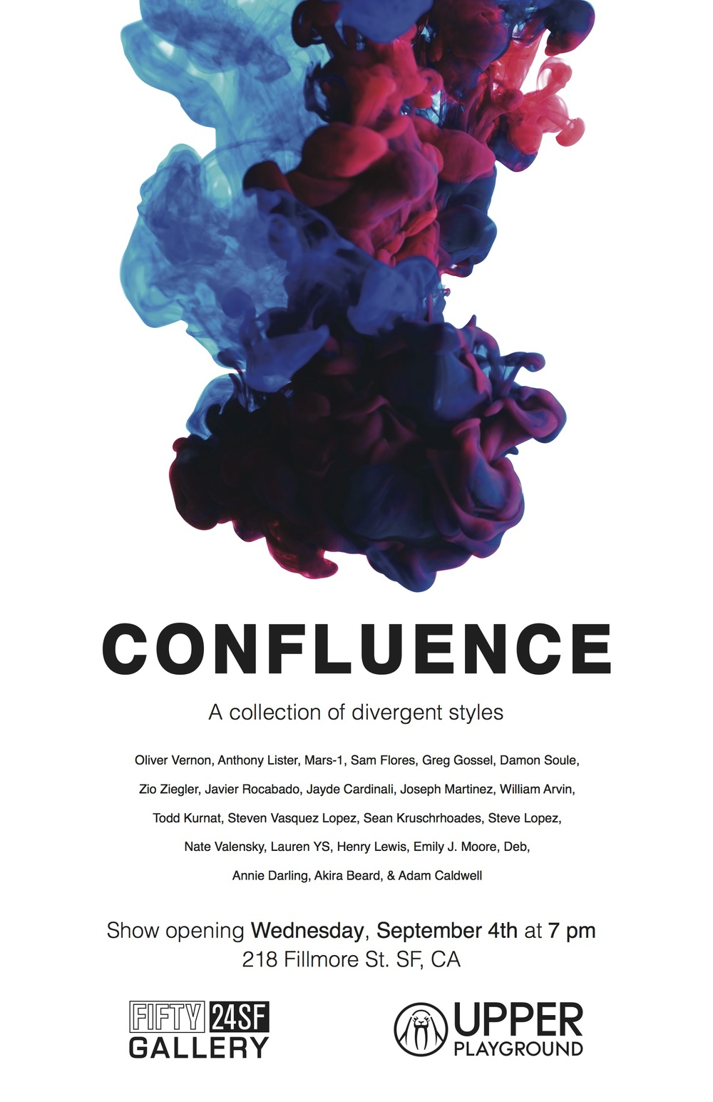 CONFLUENCE - FIFTY24SF GROUP SHOW