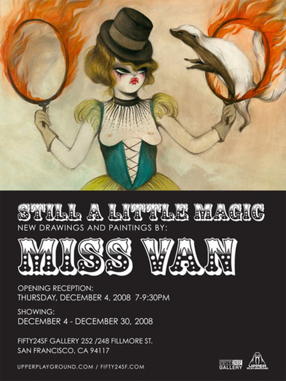 STILL A LITTLE MAGIC BY MISS VAN @ FIFTY24SF