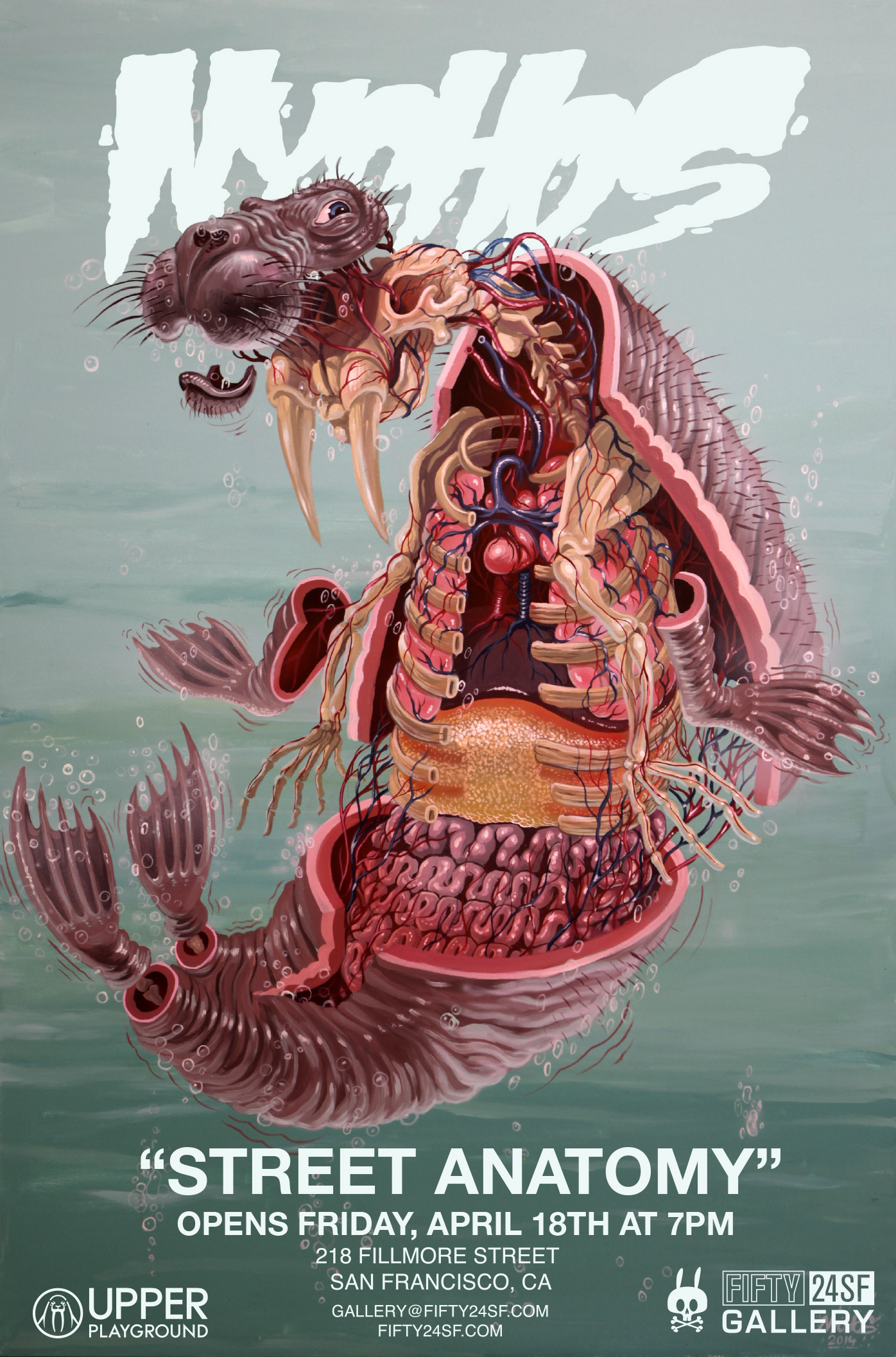 Street Anatomy By Renown Austrian Muralist Nychos At Fifty24sf