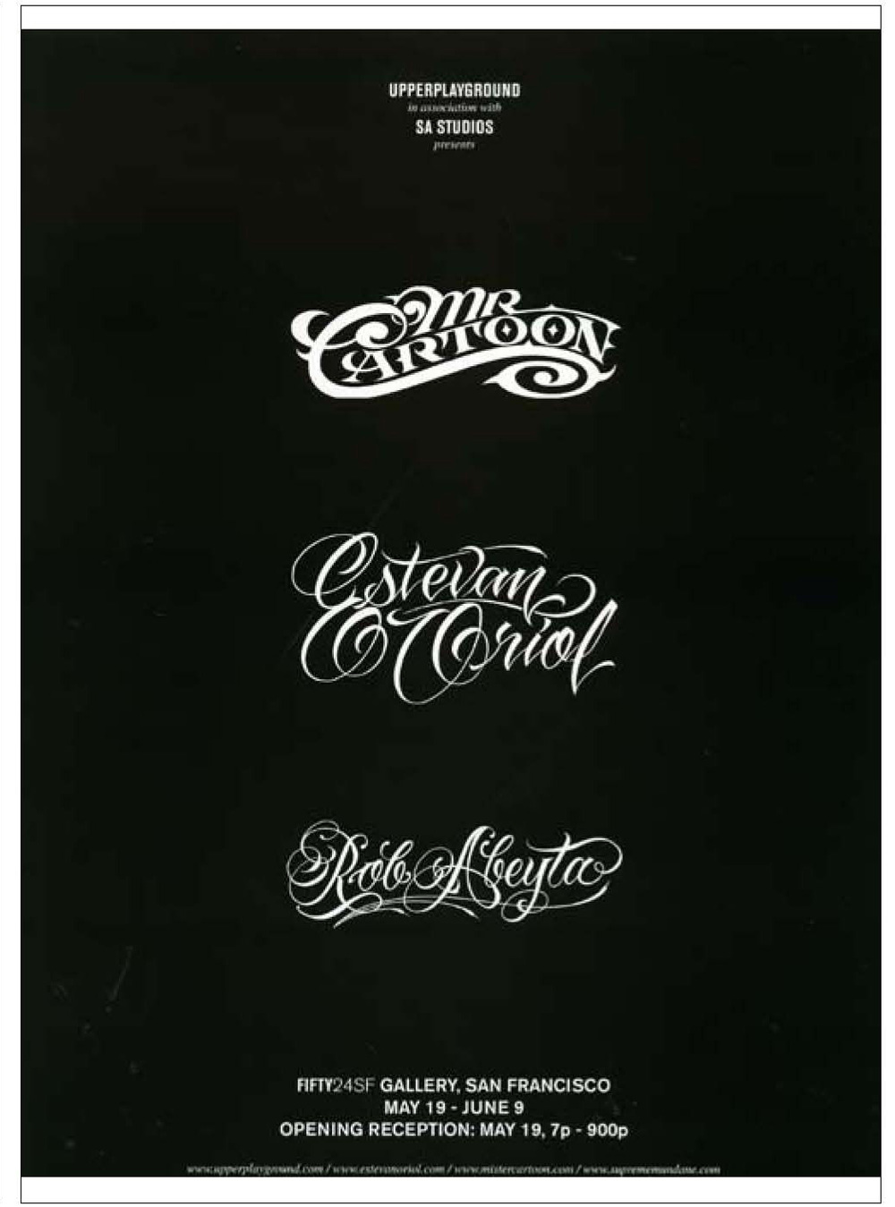 MISTER CARTOON-ESTEVAN ORIOL-ROB ABEYTA JR.-FIFTY24SF