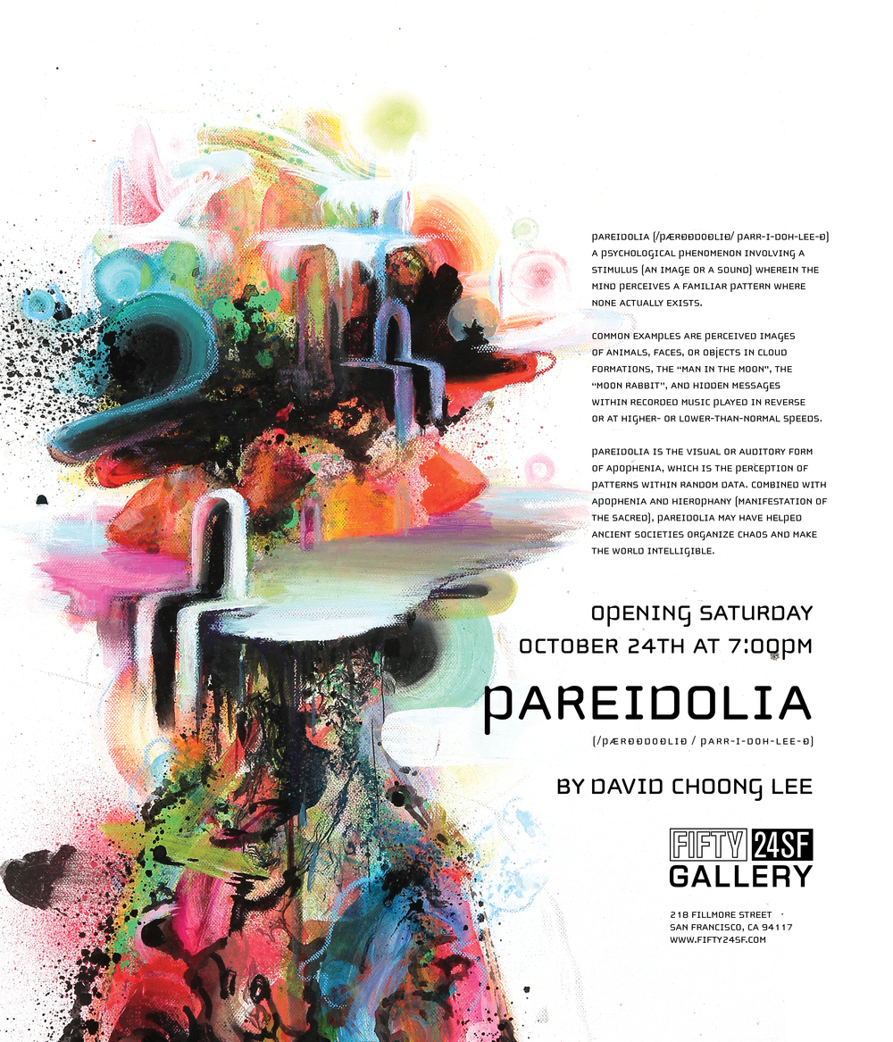 FIFTY24SF Gallery Presents Pareidolia A Solo Exhibition By David Choong Lee