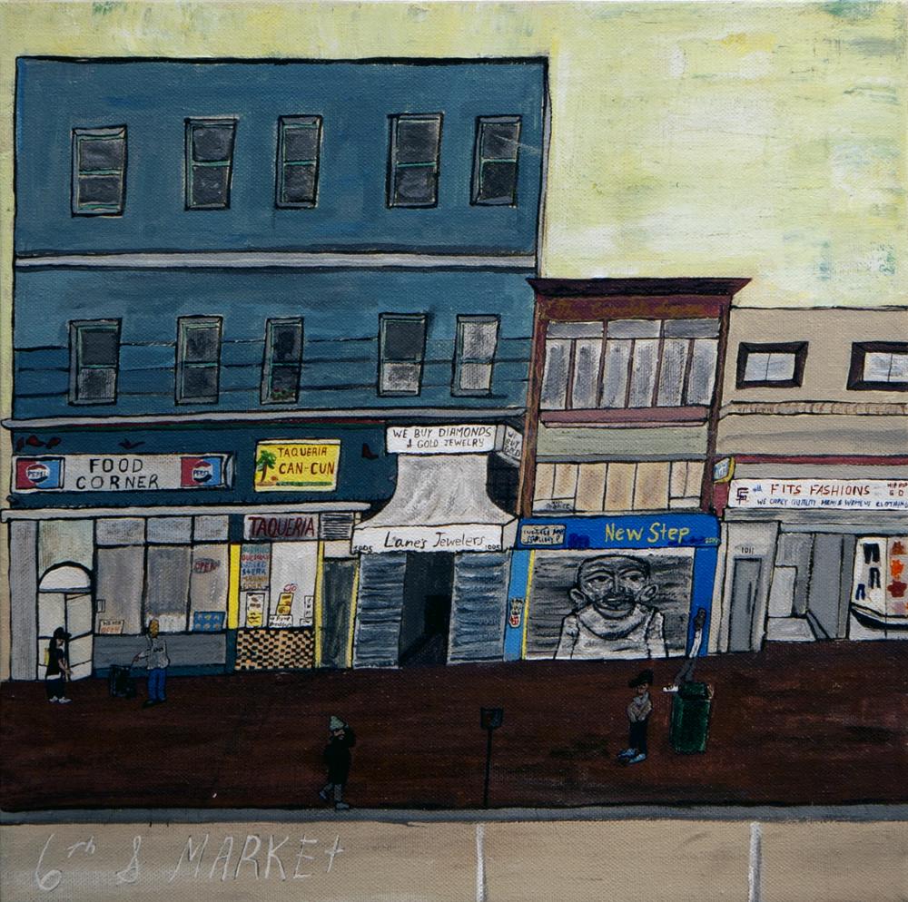 '6th & Market' by Yarrow Slaps