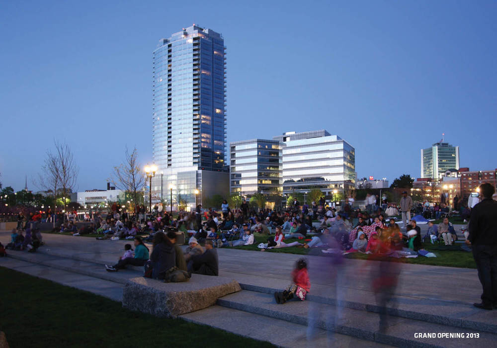 """Spielberg in the Park"" drew hundreds of visitors to Grand Opening weekend © Will Belcher"