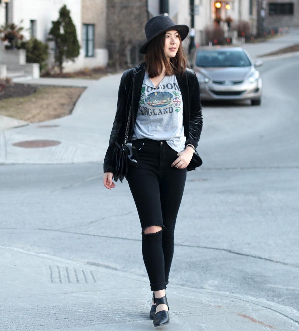 velvet blazer blog hey dahye