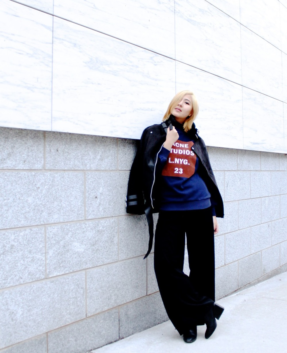 acne studios sweater fashion blog
