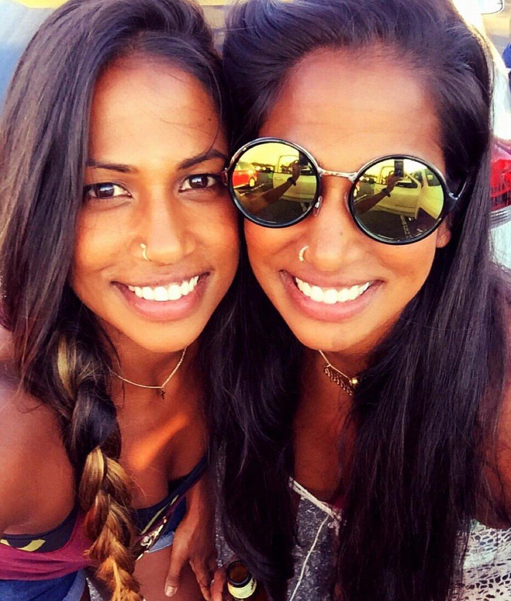 Natalie (Left), Twin Sister Nadiya (Right).