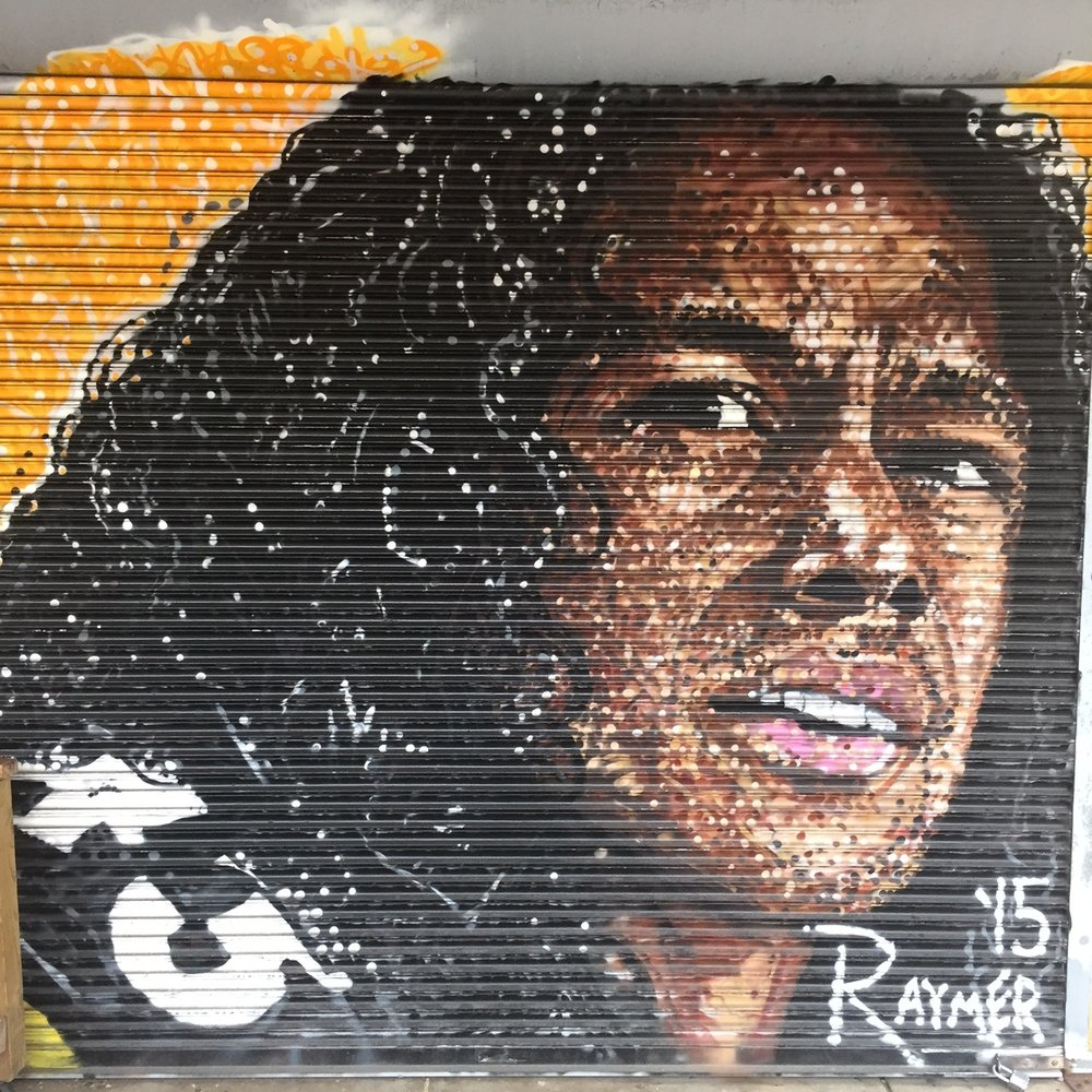 Street art of one of my favorite players to play the game, Troy Polamalu