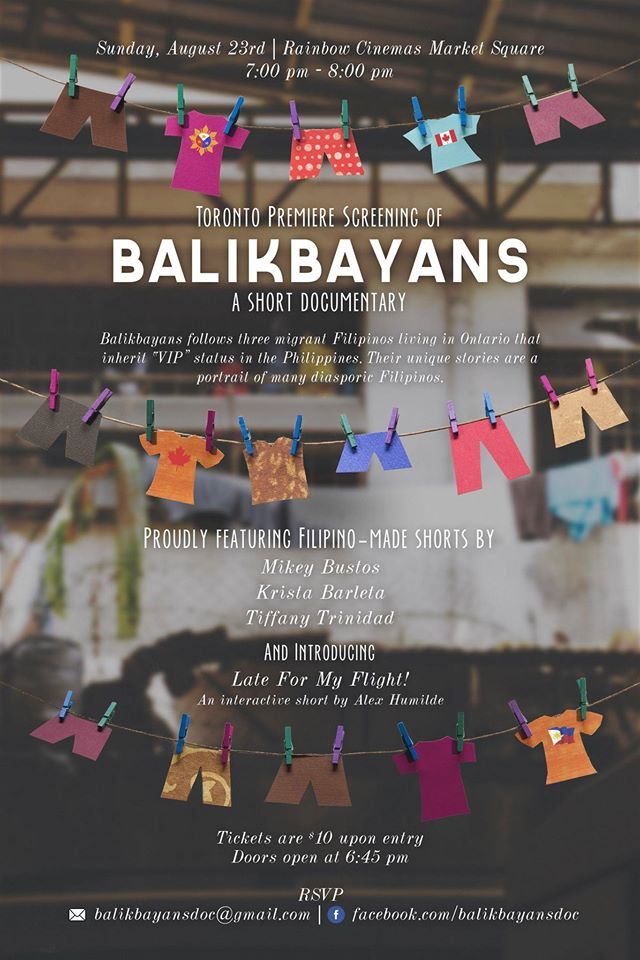 Balikbayans Film Screening Poster