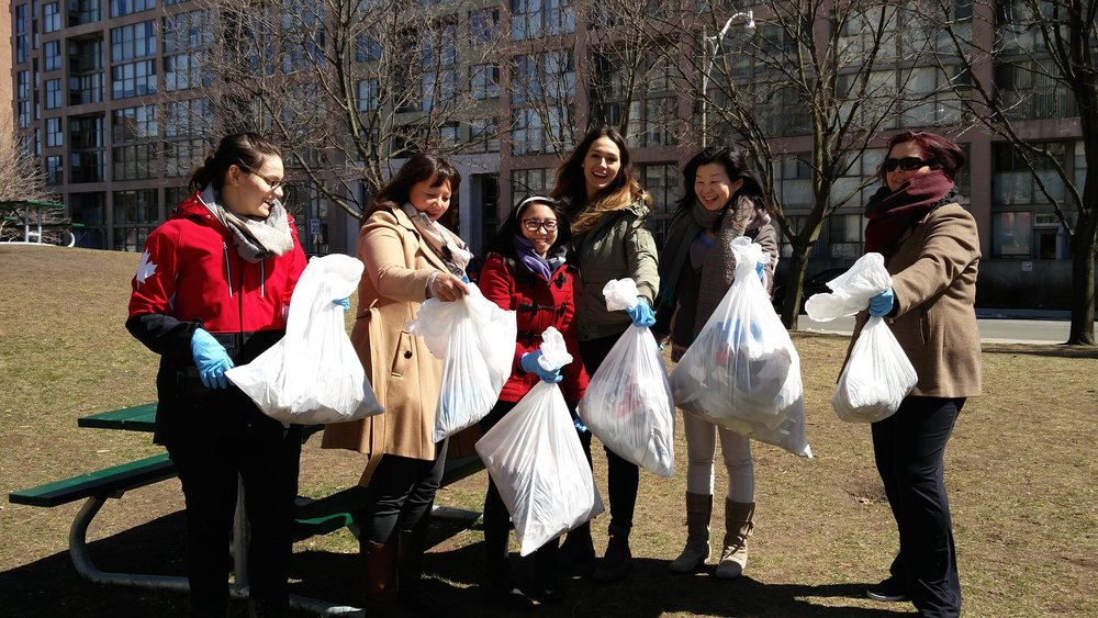 As part of the annual Clean Toronto Together initiative's Corporate 20-Minute Makeover, which took place on Friday, April 20.