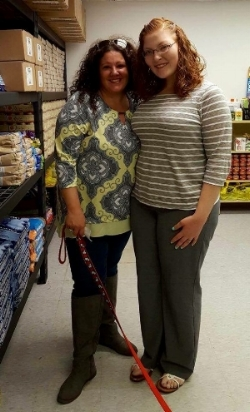 Our Director, Amy Kocis, with Animal Food Bank Founder, Vanessa (Segaline) Miller.